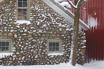 Art Print featuring the photograph Winter Stone Pattern by Randy Pollard