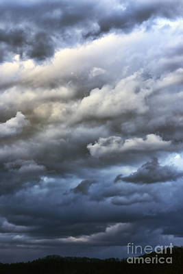 Winter Storm Clouds Art Print by Thomas R Fletcher