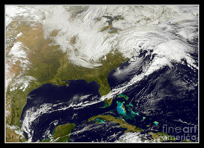 Map Of New York Photograph - Winter Storm Mid Atlantic Nasa by Rose Santuci-Sofranko