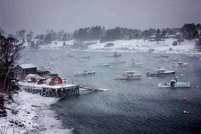 Bailey Island Photograph - Winter Storm On Mackerel Cove by Benjamin Williamson