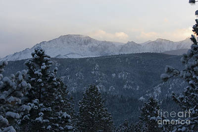 Steven Krull Royalty-Free and Rights-Managed Images - Winter Storm on Pikes Peak by Steven Krull