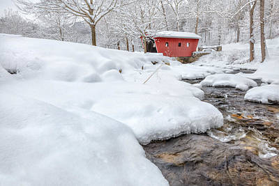 Connecticut Landscape Photograph - Winter Stream by Bill Wakeley