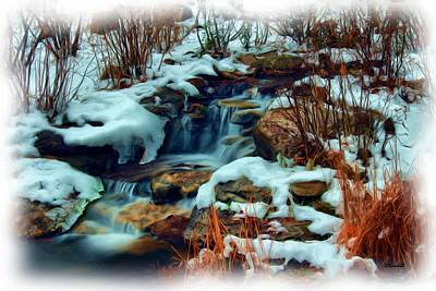 Digital Art - Winter Stream by Dennis Lundell