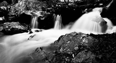 Photograph - Winter Stream In Monochrome by Parker Cunningham