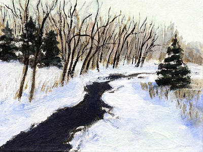 Painting - Winter Stream by J Reifsnyder