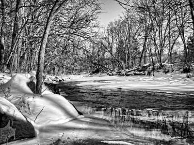 Photograph - Winter Stream by Ron Grafe