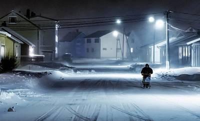 Norway Wall Art - Photograph - Winter Street by Mette Caroline Str?ksnes