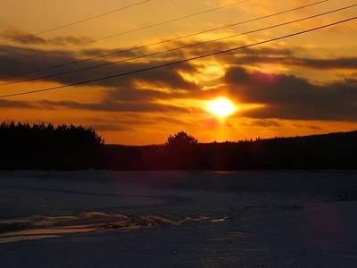 Winter Sun Sets 4 Art Print by Gene Cyr
