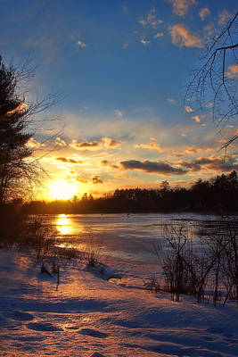 Winter In New England Photograph - Winter Sundown by Joann Vitali