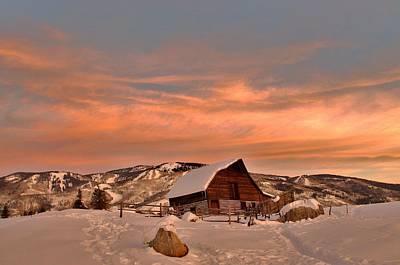 Winter Sundown Art Print