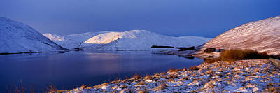 Winter Sunlight Over Megget Reservoir Art Print by Panoramic Images