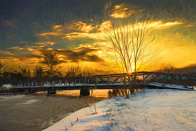Western Snowfall Photograph - Winter Sunrise - Artistic by Chris Bordeleau