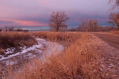 Keith Richards - Winter Sunrise at Barr Lake State Park by Cascade Colors