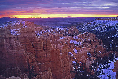 Winter Sunrise At Bryce Canyon Art Print