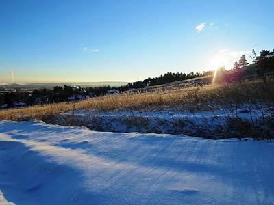 Photograph - Winter Sunrise At Chautauqua by Nina Donner