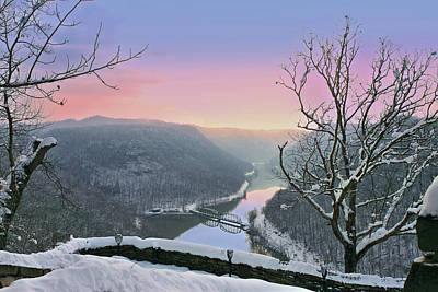 Photograph - Winter Sunrise At Hawks Nest by Mary Almond