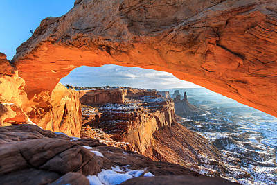Photograph - Winter Sunrise At Mesa Arch by John McArthur