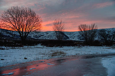 Winter Trees Photograph - Winter Sunrise by Chad Dutson