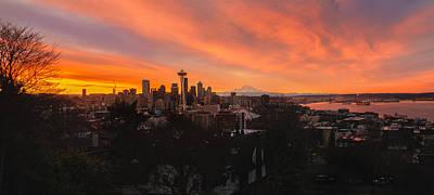 Photograph - Fiery Sunrise by Gene Garnace