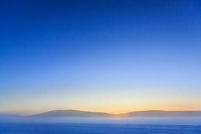 Cold Temperature Photograph - Winter Sunrise In Lapland, Sweden by Panoramic Images