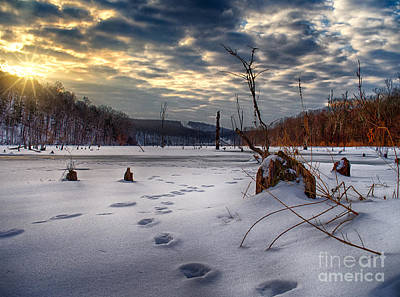 Photograph - Winter Sunrise Over Monksville by Mark Miller
