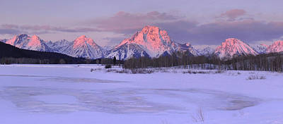 Photograph - Winter Sunrise - Oxbow Bend by Stephen  Vecchiotti