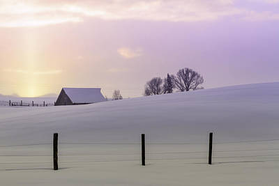 Photograph - Winter Sunrise by Teri Virbickis