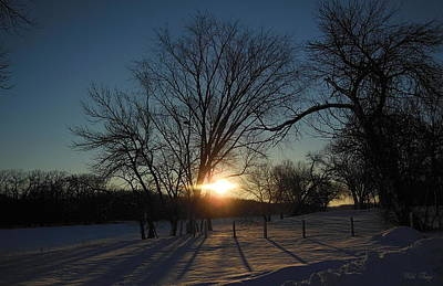 Photograph - Winter Sunrise by Wild Thing