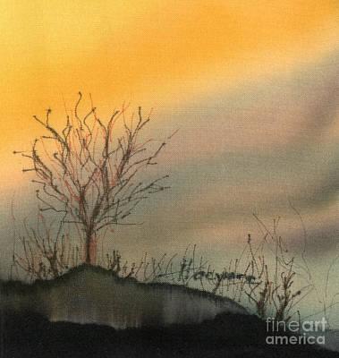 Winter Sunset Print by Addie Hocynec