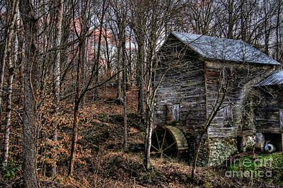 Dry Creek Photograph - Winter Sunset At Cook's Mill by Benanne Stiens