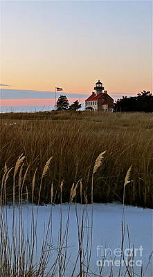 Photograph - Winter Sunset At East Point Lighthouse  by Nancy Patterson