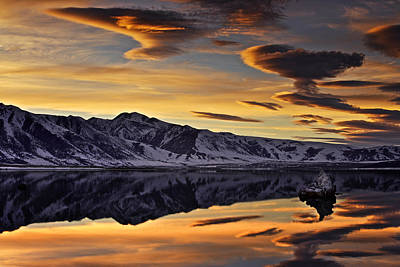 Winter Sunset At Mono Lake Art Print