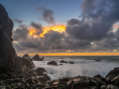 Winter Sunset At Patrick's Point Art Print by Greg Nyquist