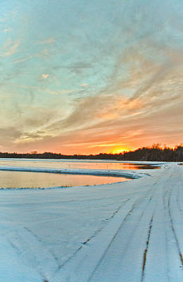 Photograph - Winter Sunset At Whitesbog Nj by Beth Sawickie