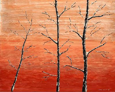 Painting - Winter Sunset by Dan Haley