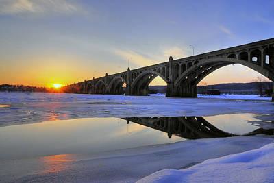 Winter Sunset Art Print by Dan Myers