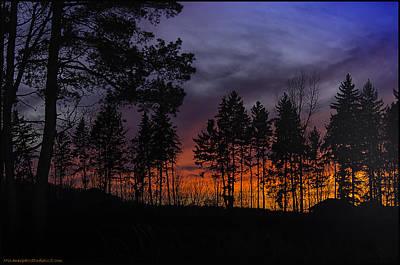 Red Photograph - Winter Sunset Dryden Michigan by LeeAnn McLaneGoetz McLaneGoetzStudioLLCcom