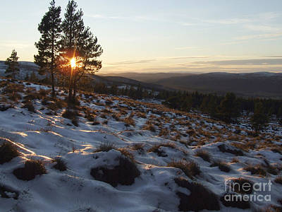Photograph - Winter Sunset - Hills Of Cromdale by Phil Banks