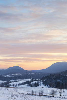 Photograph - Winter Sunset Landscape by Alan L Graham