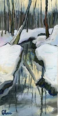 Painting - Winter Sunset by Lelia Sorokina