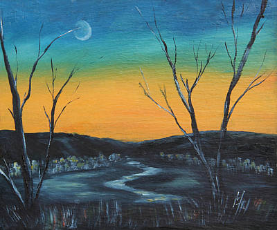 Painting - Winter Sunset by Meaghan Troup