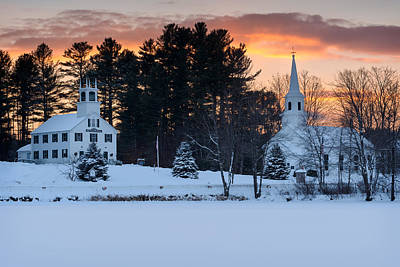 Winter Sunset Print by Michael Blanchette