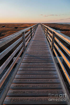 Photograph - Winter Sunset On The Boardwalk At Bass Hole by Michelle Wiarda-Constantine