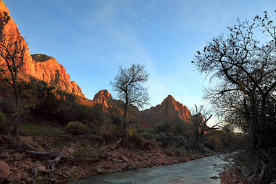 Photograph - Winter Sunset On The Virgin River by Alan Vance Ley