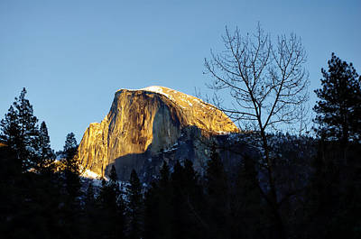 Winter Sunset Over Half Dome Print by Scott McGuire
