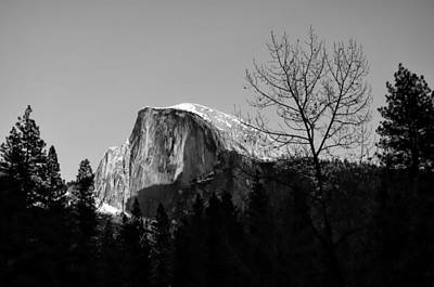 Winter Sunset Over Half Dome Yosemite National Park Print by Scott McGuire