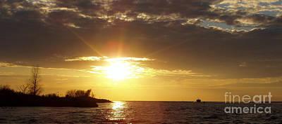 Photograph - Winter Sunset Over Long Island by John Telfer