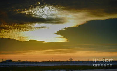 Photograph - Winter Sunset by Peggy Franz