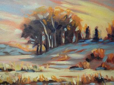 Robert Martin Painting - Winter Sunset by Robert Martin