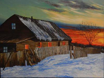Robert Schmidt Painting - Winter Sunset by Robert Schmidt